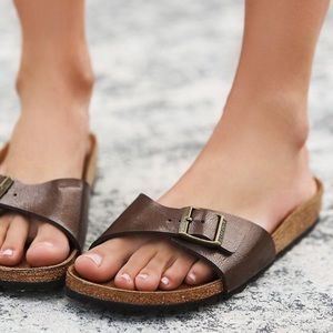 BIRKENSTOCK Madrid Sandals Brown 9 Leather 39 NEW
